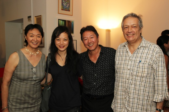 Tisa Chang, Artistic Producing Director of Pan Asian Repertory Theatre, Carla Ching, Artistic Director of Second Generation, Rick Shiomi, Artistic Director of Mu Performing Arts, Jorge Ortoll, Executive Director of Ma-Yi Theater  Photo by Lia Chang