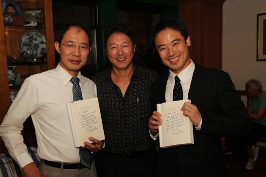 Rick Shiomi with Kentaro Ando and Masakazu Kigure, from the Consulate General of Japan Photo by Lia Chang