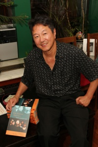 Rick Shiomi at a book party in New York for Asian American Plays for a New Generation on July 29, 2011. Photo by Lia Chang