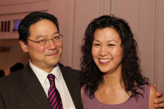 Ed Lin and Cindy Cheung at the OCA Gala dinner at the Grand Hyatt in New York on August 6, 2011.  Photo by Lia Chang