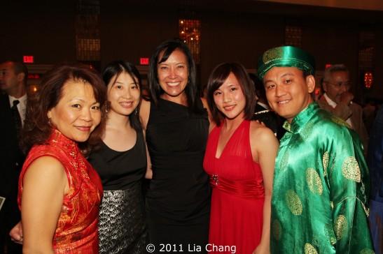 OCA-Las Vegas Chapter members Vida Lin, Janice Ma, OCA Las Vegas President, Michelle DiTondo, VP Human Resources MGM, Sheena Wang and Duy Nguyen. Photo by Lia Chang