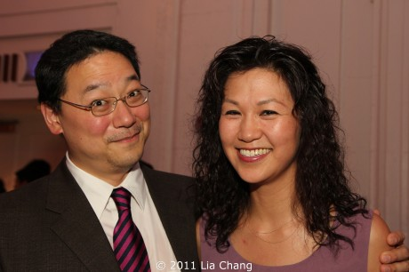 OCA-NY Chapter board member novelist Ed Lin with his wife actress Cindy Cheung at the OCA Awards Gala Dinner at the Grand Hyatt in New York on 8/6/11.  Photo by Lia Chang