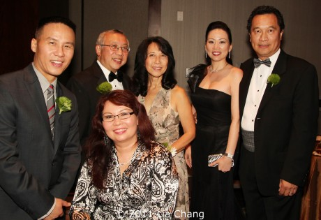 2011 OCA Awards honorees BD Wong, Tammy Duckworth and Dr. Bobby Fong with former OCA National President Ginny Gong, OCA First Lady, Ashley Lee and OCA National President, Ken Lee.  Photo by Lia Chang