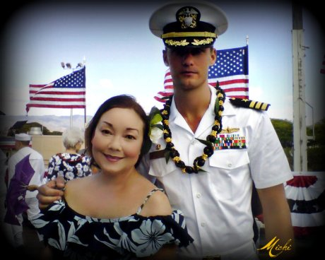 Calthy Foy-Mahi and Alexander Skarsgard on the set of Battleship.