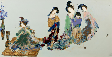 You Cuiqing, Spirit of the Han and Tang Dynasties, 2011, Porcelain painted with underglaze decoration