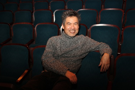 Playwright David Henry Hwang  in the Longacre Theatre in New York.   Photo by Lia Chang