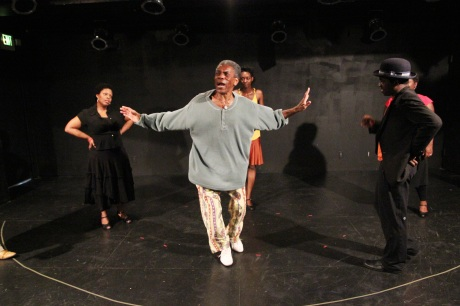 André De Shields puts his Crossroads' Ain't Misbehavin' cast through their paces at The Playroom Theatre in New York on September 24, 2011. Photo by Lia Chang