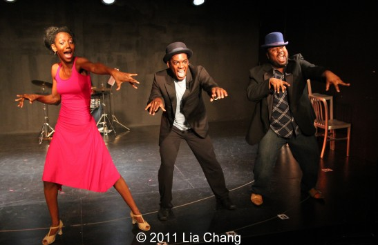 Zurin Villanueava, Tyrone Davis Jr and Jacob Ming-Trent Photo by Lia Chang