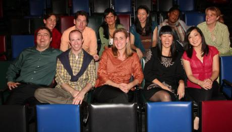 (L-R First Row) Don Eitel, Neil Schneider, Suzy Messerole, Katie Hae Leo, Katie Bradley (L-R Second Row) Maria Kelly, Nicholas Freeman, Nora Montanez, Sara Ochs, LaDawn James, Shanan Custer. Photo by Lia Chang