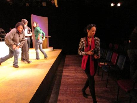 Lia Chang and the cast of Mu Performing Arts' Four Destinies at Mixed Blood Theatre in Minneapolis, MN on October 15, 2011.  Photo by Reme Grefalda