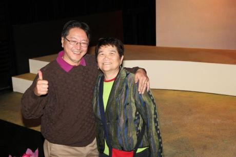 Mu Performing Arts Artistic Director Rick Shiomi and Reme Grefalda, curator of the Asian Pacific Islander Collection at the Library of Congress.  Photo by Lia Chang
