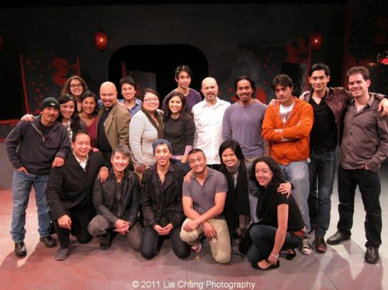 The cast and creative team of Leviathan Lab's Twelfth Night on the set at the Arclight Theater in New York on November 11, 2011. Photo by Lia Chang