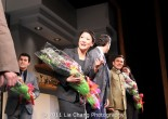 Jennifer Lim at the opening night curtain call of David Henry Hwang's Chinglish at the Longacre Theatre in New York on October 27, 2011. Photo by Lia Chang
