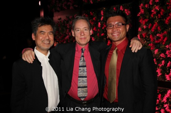 David Henry Hwang, Matthew Mcguire and Randy Gener Photo by Lia Chang