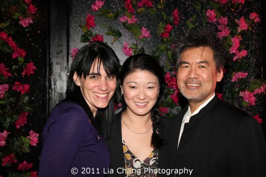 Chinglish director Leigh Silverman, actor Jennifer Lim and playwright David Henry Hwang Photo by Lia Chang