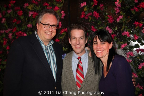 Lysistrata Jones book writer Douglas Carter Beane and composer Lyricist Lewis Flinn with Chinglish director Leigh Silverman photo by Lia Chang