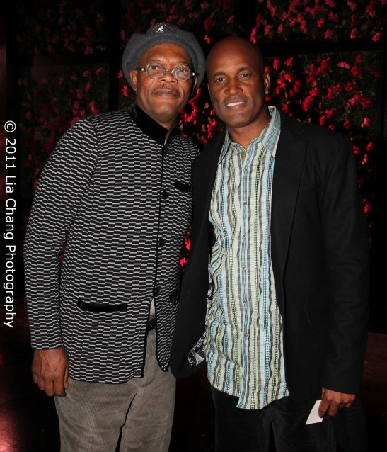 The Mountaintop actor Samuel L. Jackson and director Kenny Leon Photo by Lia Chang