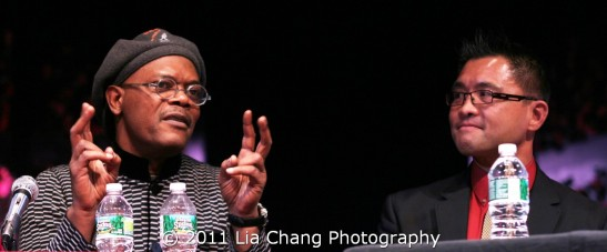 Samuel L. Jackson and Randy Gener Photo by Lia Chang