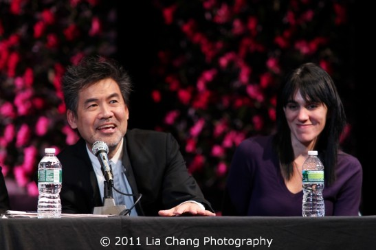 Chinglish playwright David Henry Hwang and director Leigh Silverman Photo by Lia Chang