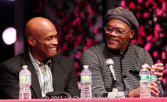 The Mountaintop director Kenny Leon and actor Samuel L. Jackson Photo by Lia Chang