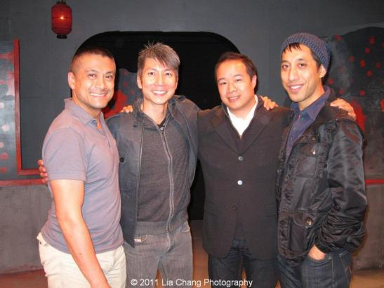Leviathan Lab founder Ariel Estrada, composer Jason Ma, director Nelson T. Eusebio III and choregrapher Dax Valdes. Photo by Lia Chang