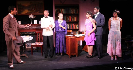 Morocco Omari, André De Shields, Marie Thomas, Erin Cherry, Sean Phillips, Gillian Glasco of Knock Me a Kiss have all been nominated for 2011 Audelco Awards.  Photo by Lia Chang