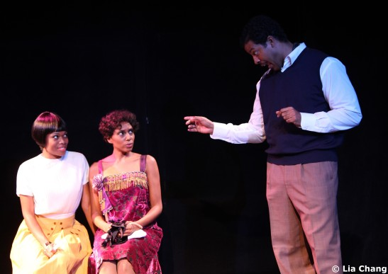 Gillian Glasco, Erin Cherry and Morocco Omari in Knock Me a Kiss.  Photo by Lia Chang