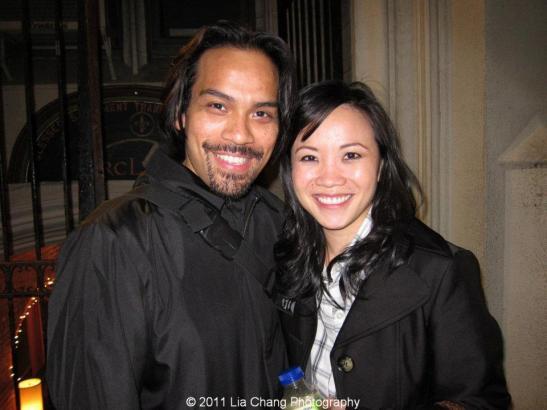 Kurt Uy (Orsino) and Tina Chilip (Viola)  Photo by Lia Chang
