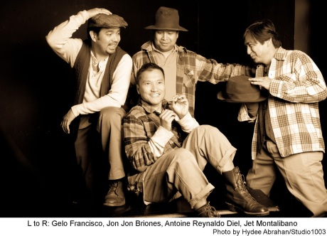 Gelo Francisco, Jon Jon Briones, Antoine Reynaldo Diel and Jet Montalibano / Photo by Hydee Abrahan/Studio 1003