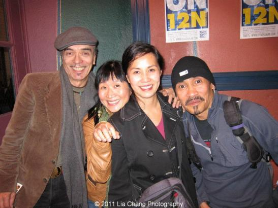 Raul and Mary Aranas came out to support Karen Tsen Lee in her debut as Maria and the fearless Jojo Gonzalez as Feste the Clown. Photo by Lia Chang