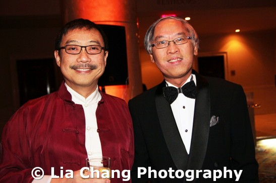 Paul Huang, CJ Huang Foundation and Cao O, Executive Director of AAFNY at the 32nd Annual MOCA Legacy Awards Gala at Cipriani Wall Street, 55 Wall St in New York on December 12, 2011. Photo by Lia Chang