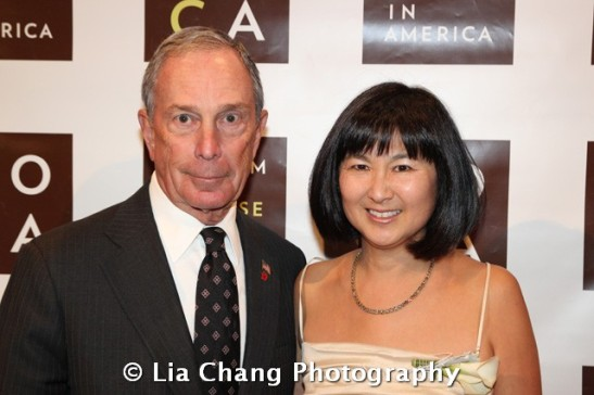 Mayor Michael R. Bloomberg and artist and architect Maya Lin at the 32nd Annual MOCA Legacy Awards Gala at Cipriani Wall Street, 55 Wall St in New York on December 12, 2011. Photo by Lia Chang