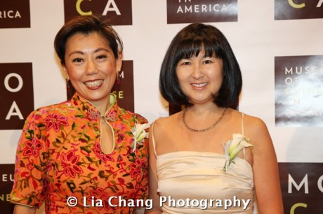 (LtoR) MOCA Board of Trustee Co-Chairs Mei-Mei Tuan and artist and architect Maya Lin at the 32nd Annual MOCA Legacy Awards Gala at Cipriani Wall Street, 55 Wall St in New York on December 12, 2011. Photo by Lia Chang