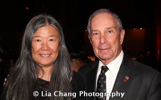Fashion Designer Yeohlee and Mayor Michael R. Bloomberg at the 32nd Annual MOCA Legacy Awards Gala at Cipriani Wall Street, 55 Wall St in New York on December 12, 2011.  Photo by Lia Chang