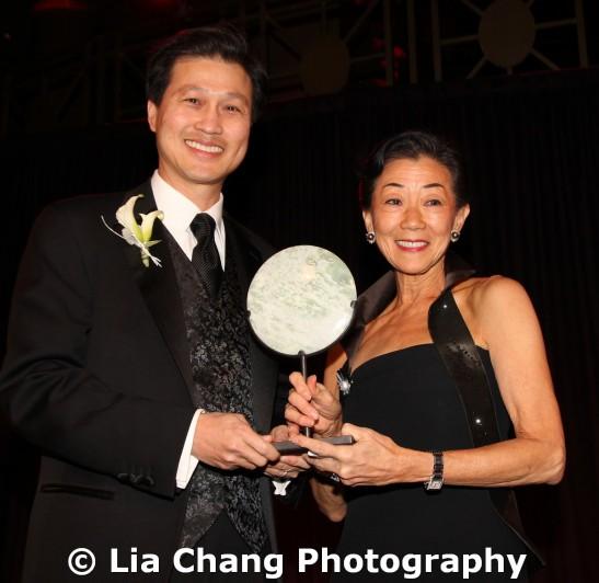 2011 Legacy Award honoree Dominic Ng and Lulu Wang. Photo by Lia Chang