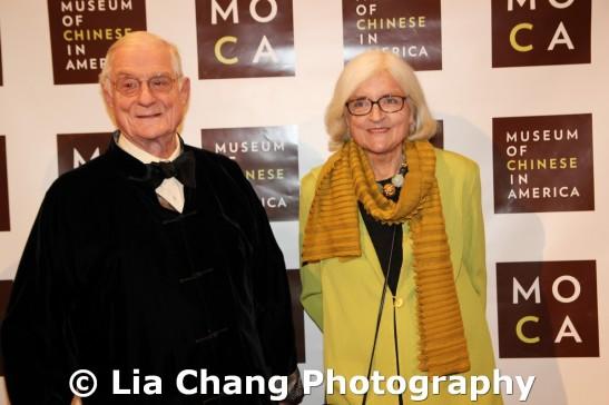 American diplomat Nicholas Platt and his wife Sheila Maynard Platt at the 32nd Annual MOCA Legacy Awards Gala at Cipriani Wall Street, 55 Wall St in New York on December 12, 2011. Photo by Lia Chang