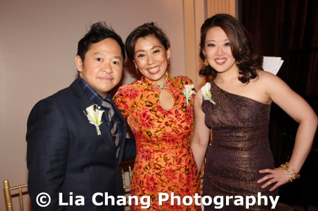 2011 Legacy Award honoree Pichet Ong, Mei-Mei Tuan and CNBC correspondent Melissa Lee at the 32nd Annual MOCA Legacy Awards Gala at Cipriani Wall Street, 55 Wall St in New York on December 12, 2011. Photo by Lia Chang