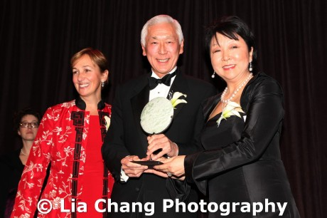 2011 Lifetime Achievement Award recipient with co-presenters Sara Judge McCalpin and Anla Cheng at the 32nd Annual MOCA Legacy Awards Gala at Cipriani Wall Street, 55 Wall St in New York on December 12, 2011.  Photo by Lia Chang