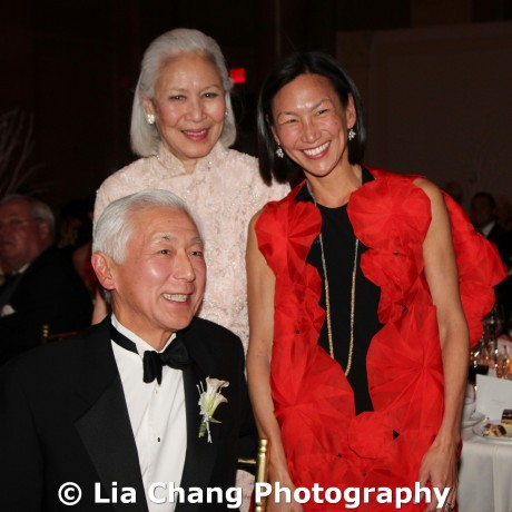 2011 MOCA Lifetime Achievement Award honoree Oscar L. Tang, his sister-in-law Jean Young and daughter Dana Tang at Cipriani Wall Street, 55 Wall St in New York on December 12, 2011. Photo by Lia Chang