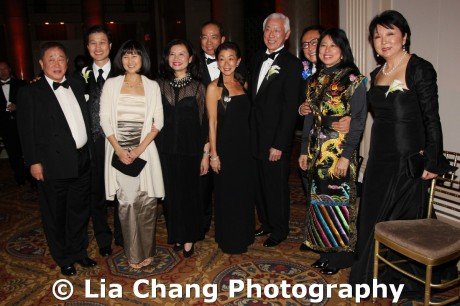 (L-R) Committee of 100 Members Arthur Liu, 2011 Legacy Award Honoree Dominic Ng, Maya Lin, Jenny Ming, Ted Wang, Lulu Wang, 2011 Lifetime Achievement Award Honoree Oscar L. Tang, Calvin Tsao, Alice Young and Anla Cheng at the 32nd Annual MOCA Legacy Awards Gala at Cipriani Wall Street, 55 Wall St in New York on December 12, 2011. Photo by Lia Chang
