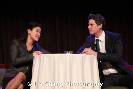 Jennifer Lim and Gary Wilmes perform an excerpt from David Henry Hwang's new Broadway play Chinglish at the 32nd Annual MOCA Legacy Awards Gala Benefit at Cipriani Wall Street, 55 Wall St in New York on December 12, 2011. Photo by Lia Chang