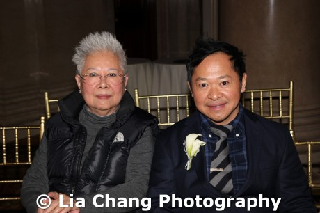2011 Legacy Award honoree Pichet Ong and his mom at the 32nd Annual MOCA Legacy Awards Gala Benefit at Cipriani Wall Street, 55 Wall St in New York on December 12, 2011. Photo by Lia Chang