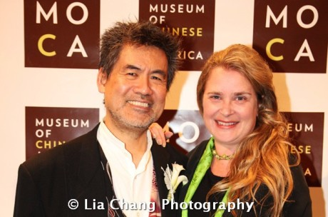Chinglish playwright David Henry Hwang, and his wife actress Kathryn Layng at the 32nd Annual MOCA Legacy Awards Gala at Cipriani Wall Street, 55 Wall St in New York on December 12, 2011. Photo by Lia Chang