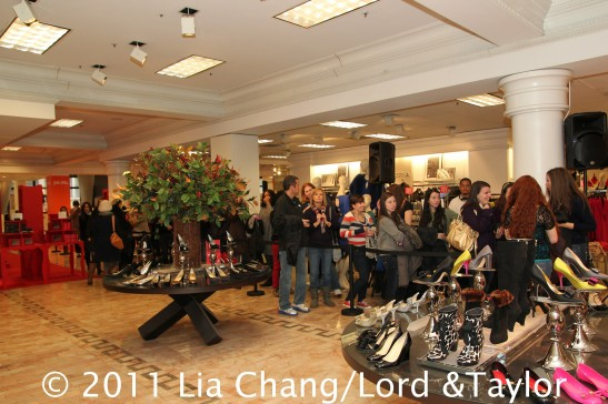 Fans line up to meet The Real Housewives of Beverly Hills' star Adrienne Maloof at Lord & Taylor Fifth Ave in New York on December 17, 2011.  Photo by Lia Chang/Lord & Taylor