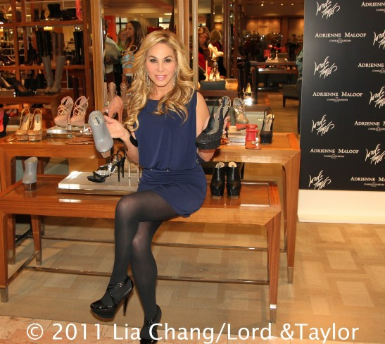 The Real Housewives of Beverly Hills' star Adrienne Maloof during a personal appearance at the Lord & Taylor Fifth Ave Flagship Store in New York to introduce her new Adrienne Maloof by Charles Jourdan Shoe Collection on December 17, 2011. Photo by Lia Chang/Lord & Taylor