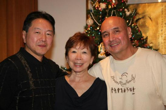 Rick Shiomi, Julie Azuma and Tamio Spiegel Photo by Lia Chang