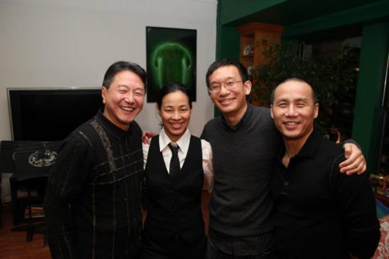 Rick Shiomi, Lia Chang, Robert Lee and BD Wong. Photo by Masao