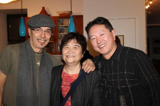 Raul Aranas, Reme Grefalda and Rick Shiomi Photo by Lia Chang