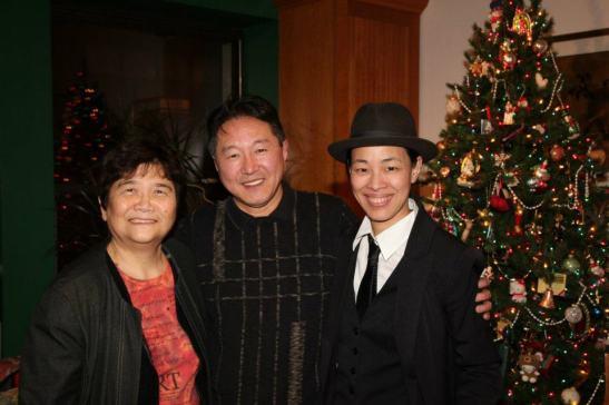 Reme Grefalda, Rick Shiomi and Lia Chang