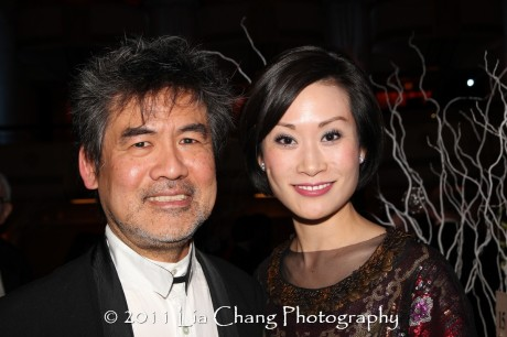 Asia Society Cultural Achievement Award winner David Henry Hwang and Ida Liu. (Lia Chang)